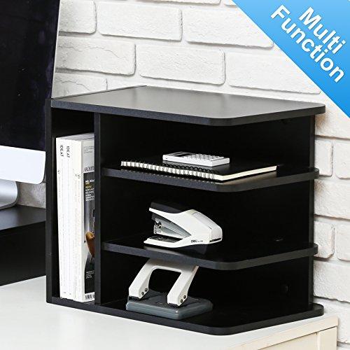fitueyes schreibtisch ablagesystem tisch organizer aus holz 35x30x25cm schwarz do303501wb ipehog. Black Bedroom Furniture Sets. Home Design Ideas