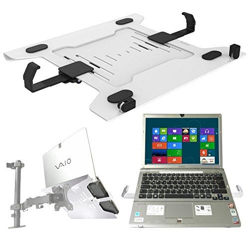Laptop halterung adapterplatte wei an wandhalterung tischhalter halterplatte vesa 100 f r - Wandhalterung fur tablet ...